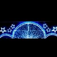 Gök Kuşağının Mavisi Desenleri İle Cadde Işık Süslemeleri
